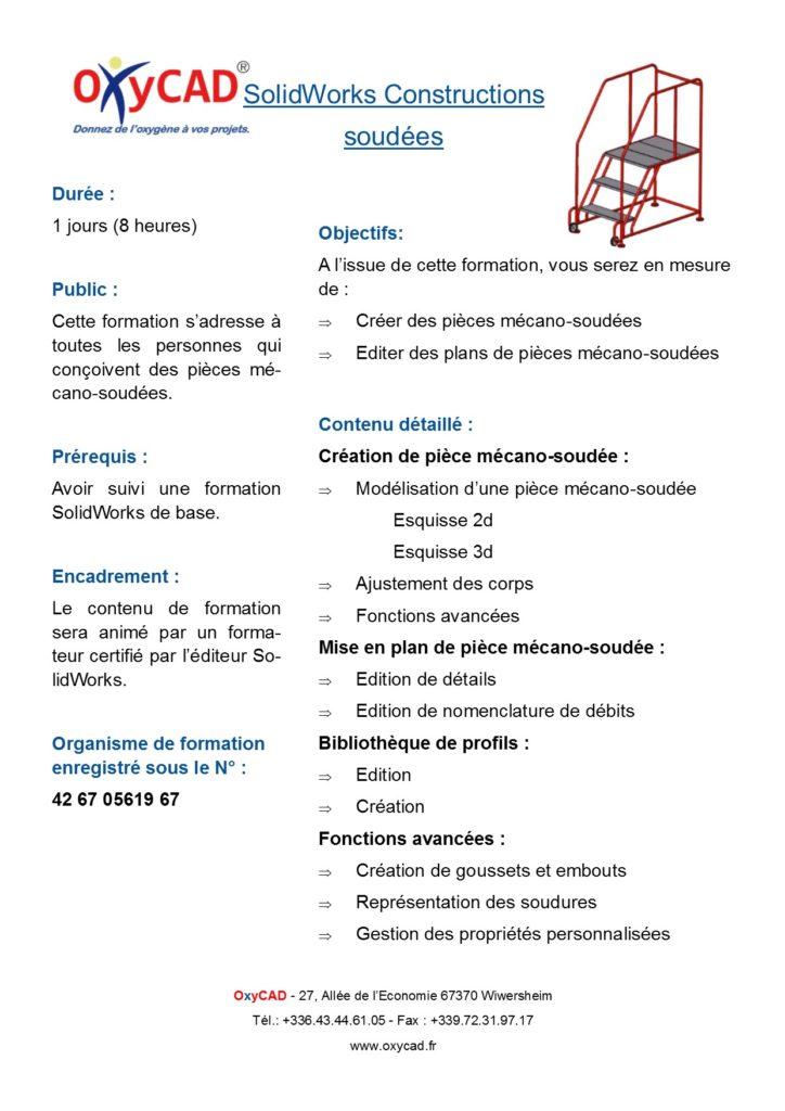 Formation SolidWorks Construction Soudées