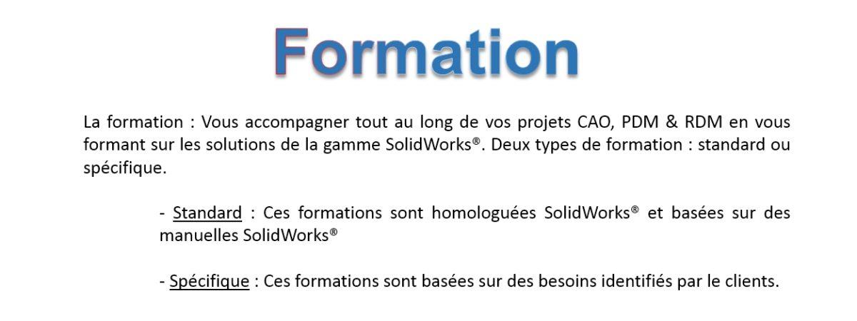Formation solidworks