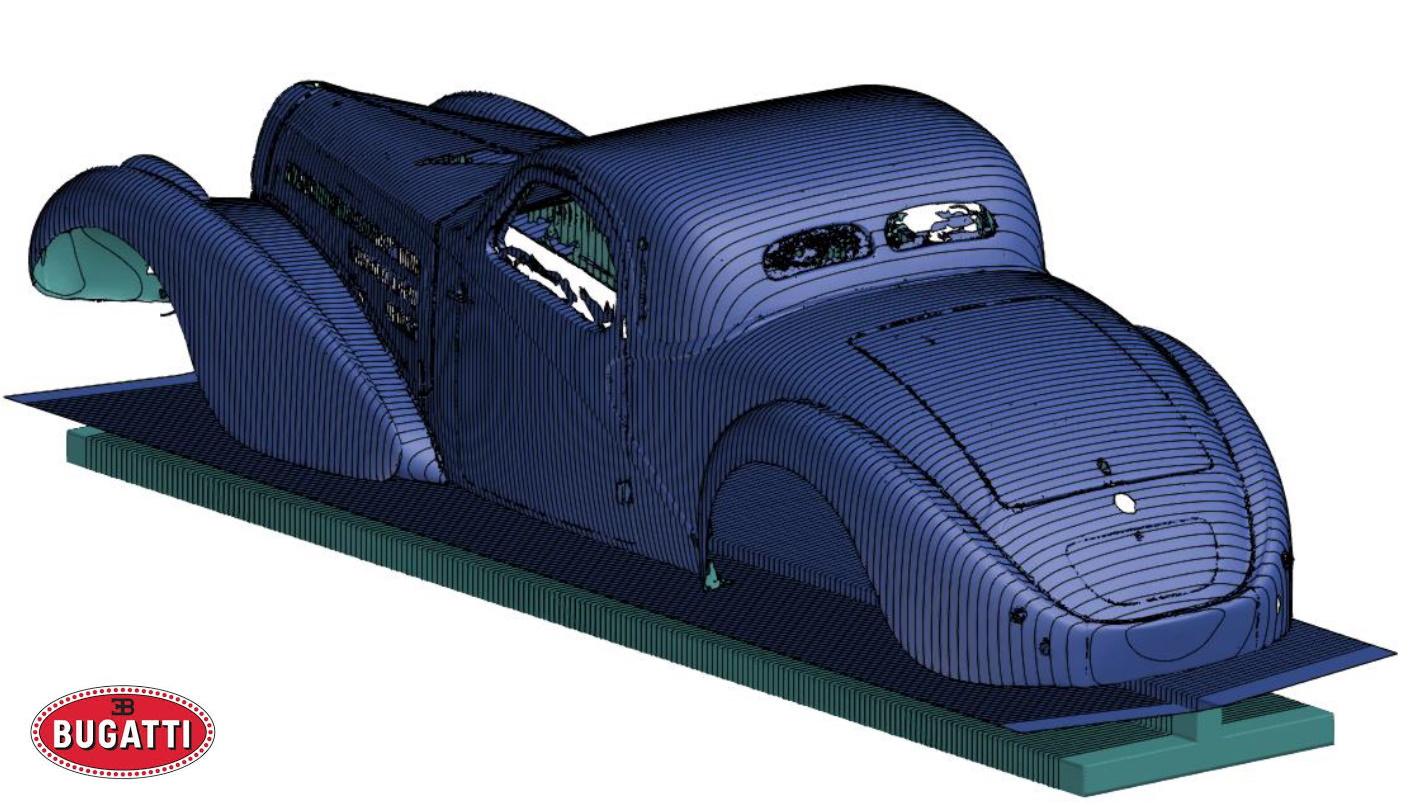 Numérisation d'une Bugatti Type 57