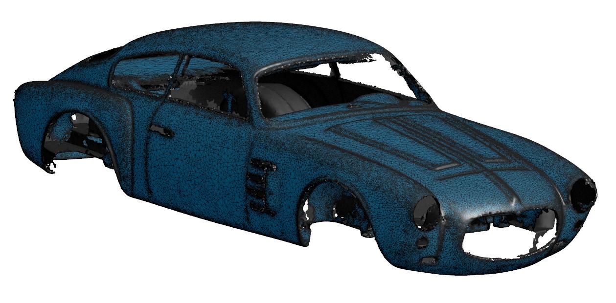 Numérisation 3d d'une Maserati