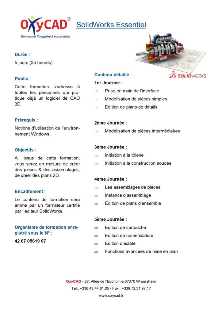 Formation SolidWorks Essentiel