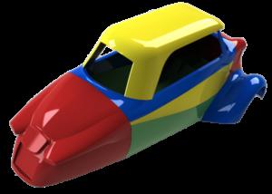 Read more about the article Rétroconception d'une carrosserie d'un Messerschmitt KR200